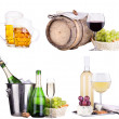 Champagne, red and white wine,beer — Stockfoto