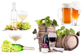 Champagne, red and white wine,beer — Stock Photo