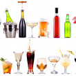 Different images of alcohol isolated — Stock Photo #28940263