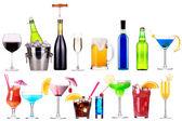 Diverse immagini di alcool isolato — Foto Stock