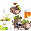 Champagne, red and white wine,beer,brandy — Foto de Stock