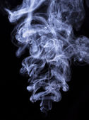 Abstract cigar smoke on black — Stock Photo