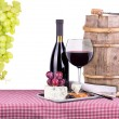 Picnic with wine and food — Stock Photo