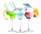 Alcoholic exotic cocktail isolated — Stock Photo