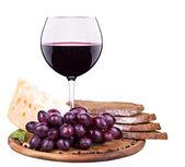 Pique-nique avec le vin et la gastronomie — Photo