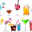 Different images of alcohol isolated — Stock Photo #29900793
