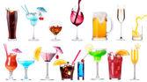 Verschillende beelden van alcohol geïsoleerd — Stockfoto