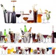 Set of different alcoholic drinks and cocktails — Stock Photo #29958563