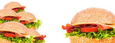 Tasty burger background — Stock Photo