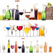 Set of different alcoholic drinks and cocktails — Stock Photo #29960041