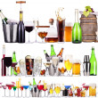 Set of different alcoholic drinks and cocktails — Stock Photo #29960371