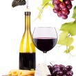 Picnic background with wine and food — Stock Photo