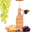 Picnic background with wine and food — Stok fotoğraf