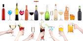 Boissons d'alcool mis faire toast — Photo