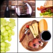 gustoso collage con vino e cibo — Foto Stock #30411367