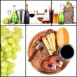 Stock Photo: Set of different alcoholic drinks and food