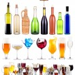 Alcoholic drinks set with splash — Stock Photo #30476065