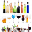 Alcoholic drinks set with splash — Stock Photo #30476117