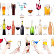 Different images of alcohol isolated — Stock Photo #30564283