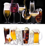 Different images of alcohol — Stock Photo