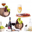 Red wine, champagne, beer, alcohol cocktail — Foto Stock