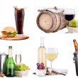 Champagne, wine,beer,cola and food — Stock Photo #31183637