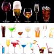 Champagne, red and white wine,beer — ストック写真