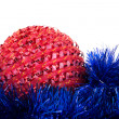 Multicolored christmas balls isolated — Stock Photo
