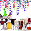 Different alcohol drinks - holiday concept — Stock Photo #32918089