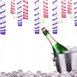Champagne in ice bucket - holiday concept — Foto de Stock