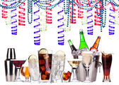 Different alcohol drinks - holiday concept — Stock Photo