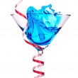 Alcoholic cocktail with christmas decoraion — Stock Photo