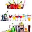 Different  alcohol drinks set isolated — Stockfoto