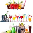 Different  alcohol drinks set isolated — Lizenzfreies Foto