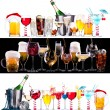 Different images of alcohol — Stock fotografie