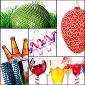 Bright christmas collage — Stock Photo