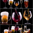 Different images of alcohol — Foto Stock