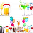 Different alcohol drinks set isolated — Stock Photo #36701535