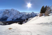 Winter mountains in Italian Alps — Foto Stock