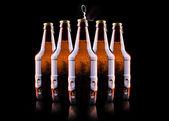 Open wet beer bottle — Stockfoto