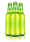 Frostiga flaska lättöl — Stockfoto