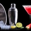 Alcohol cocktail set on a black — Stock Photo #40979979