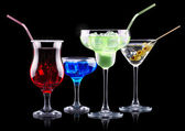 Alcohol cocktail set — Stock Photo