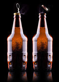Open wet beer bottle — Photo