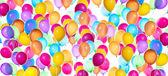 Uçan balonlar izole — Stok fotoğraf
