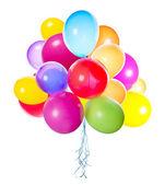 Flygande ballonger isolerade — Stockfoto