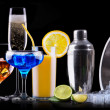 Different alcohol drinks set — Stock Photo #43160499
