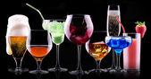 不同酒精饮料套 — 图库照片
