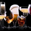 Different alcohol drinks set — Stock Photo #43179285