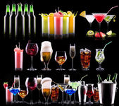 Different alcohol drinks set — Zdjęcie stockowe